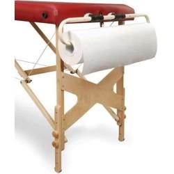 Suport pentru cearceafuri din hartie la masa masaj