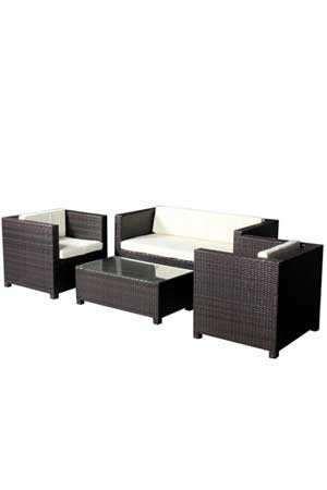 Set canapea-fotolii si masa pentru terasa-gradina