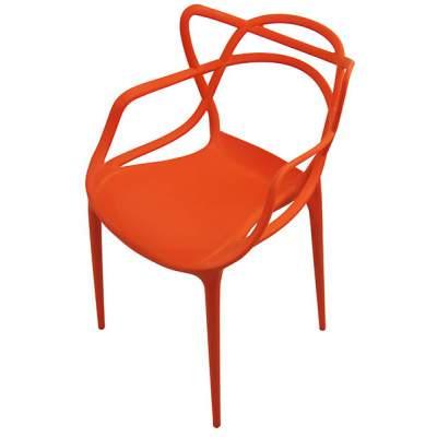 Scaun-pentru-terasa-din-plasic-portocaliu